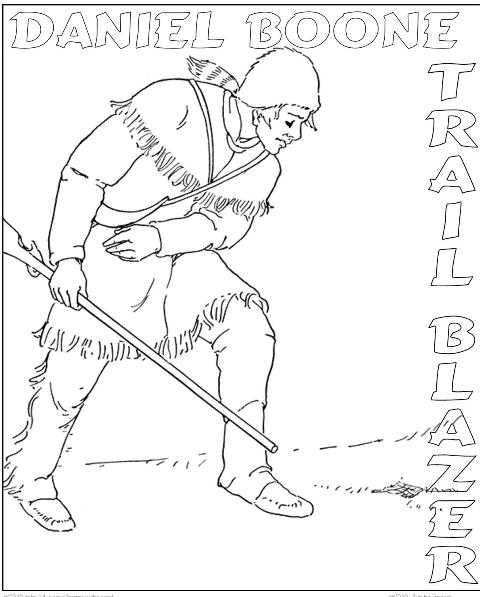 Free Coloring Pages Of French And Indian War Daniel Boone Coloring Page