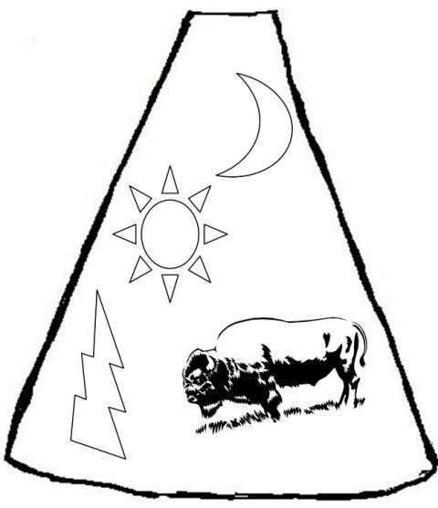 Teepee Designs Coloring Pages