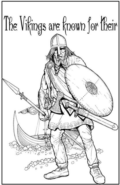 vikings football coloring pages - photo #50